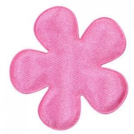 Satijnen bloem roze 4.7cm pst