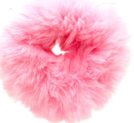 Scrunchie Haarwokkel fluffy  lichtroze