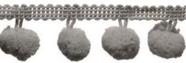 Pompomband grijs 2cm