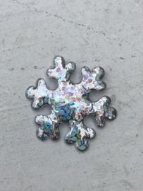 Sneeuwvlok zilver metallic 2cm