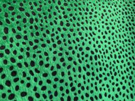 leer vacht panter/tijger groen  20x30 cm