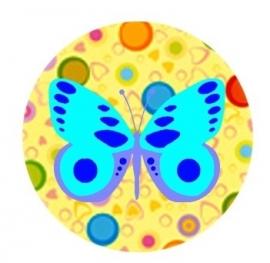 Flatback vlinder stip dubbel
