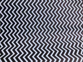 Leer zigzag zwart/wit