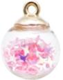 Bolletjes bedel/hanger sterretjes licht roze