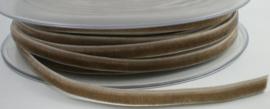 Velvet/fluweel band taupe  6 mm