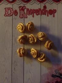 Roosje goud 1 cm (10)