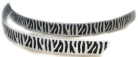 Zebra band wit/zwart grosgrain