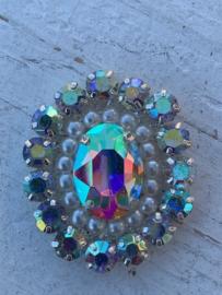 Luxe rhinestone diamant parels meekleurend
