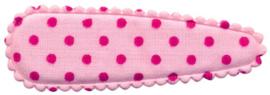 Kniphoesje roze met fuchsia stip