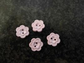 licht roze dubbele bloemknoop