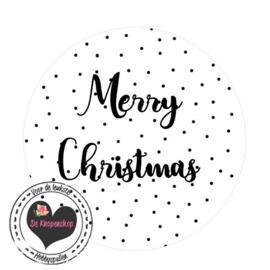 Flatback Merry Christmas polkadot