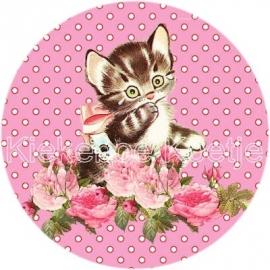 Flatback Kitten roze (k094)