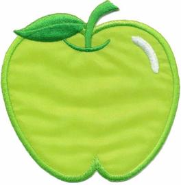 Opstrijkbare applicatie appel groen