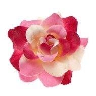 Roos roze/wit stof 4,5cm