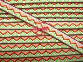 Sierband retro driehoekje lime & roze