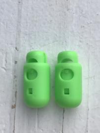 Koordstopper zwart Cilinder neon groen