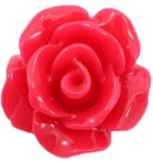 Roos kraal rood 10mm acryl