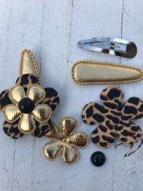 DIY Haarknipje gold tijger