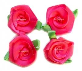 Roosjes met mint blad roze 3,5cm