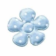 Polkadot bloemen baby blauw 3,5cm