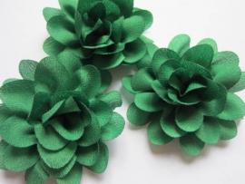 Chiffon bloem groen 5.5cm