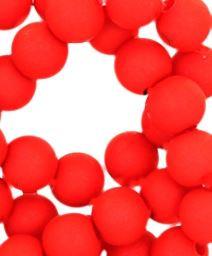 Kralen acryl mat 10 mm rood