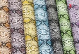 Slangen print leer paars/lila