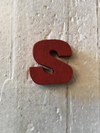 Flatback Letter S rood