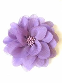 Bloem chiffon 11 cm lila/paars