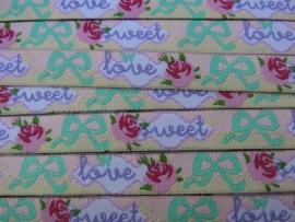 Sweet love roosjes & strikjes pastel