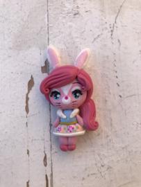 konijnen oren meisje fimo klei poppetje