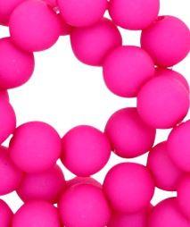 Kralen acryl mat 10 mm hot pink
