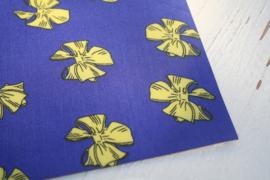 Leer strikken motief paars/geel