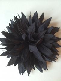 Bloem stof navy 9,5cm