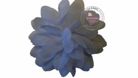 Chiffon bloem wit 6,5cm