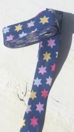 Biasband blauw met gekleurde sterren (3008)