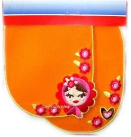 Kniestukken Matroesjka oranje(2st)