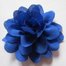 Chiffon bloem Royal blue 5,5 cm