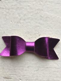 Strik leer metallic paars 5.5 cm
