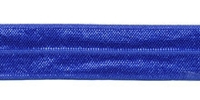 Elastisch biasband royal blue/cobalt blauw  2cm