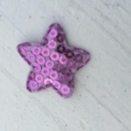 ster pailletten 2.5 cm lila
