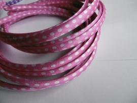 Diadeem roze polkadot 1cm