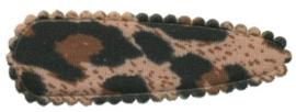 Kniphoesje panter/tijger bruin katoen