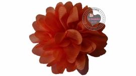 Chiffon bloem  oranje 6,5cm