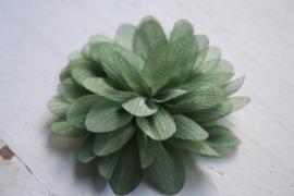 Glitter Bloem army green 7 cm