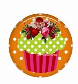 Flatback cupcake lime (k790)