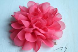 Bloemen chiffon 11 cm coral