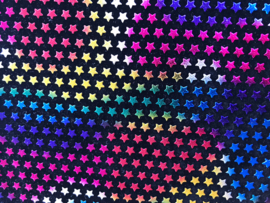 Leer zwart ster regenboog