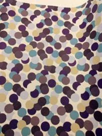Leer polkadot confetti Blauw/Bruin tinten
