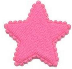 Ster roze 3.5 cm